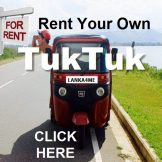 Explore Sri lanka - rent your own Tuktuk, Click HERE